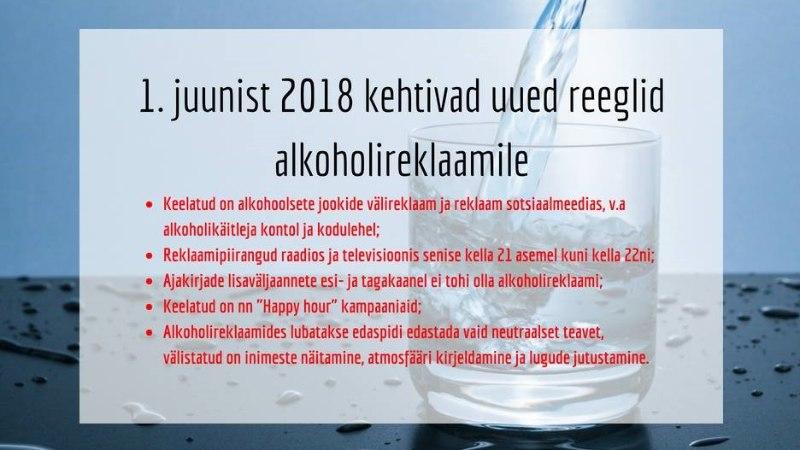 HÜVASTI, HAPPY HOUR: ajapõhine alkoholi soodusmüük on juunist alates keelatud