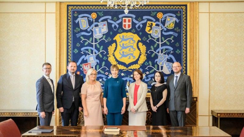 FOTOD | President Kaljulaid nimetas ametisse viis kohtunikku
