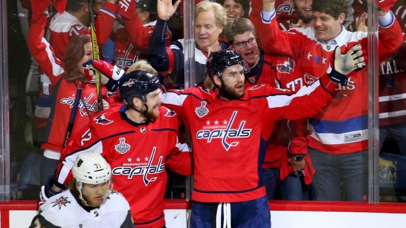 Kuznetsov kordas NHLi finaalmängude söödurekordit ja Washington jõudis Stanley karika lävele