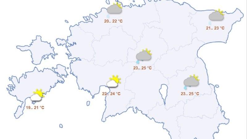 Nädalavahetus tuleb suvine, uuel nädalal saabuvad vihmapilved