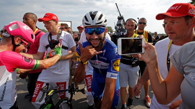 Kolumbia sprindiäss Tour de France'il juba teise etapi, Taaramäe tuli Kangertile lähemale