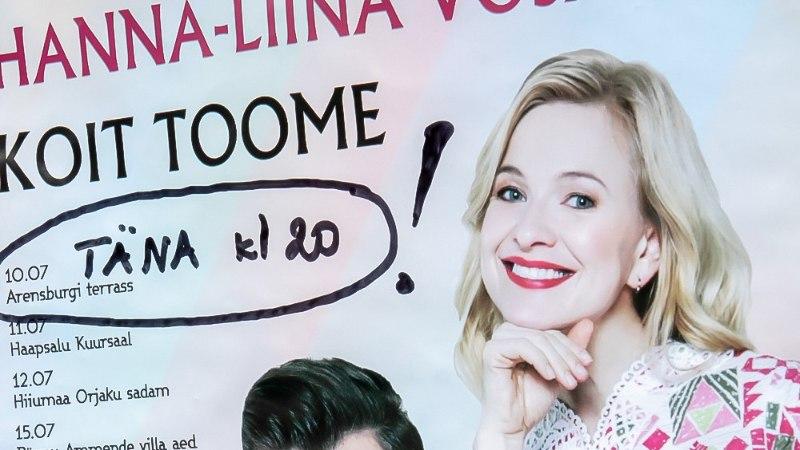 GALERII   Koit Toome ja Hanna-Liina Võsa alustasid romantilist suvetuuri