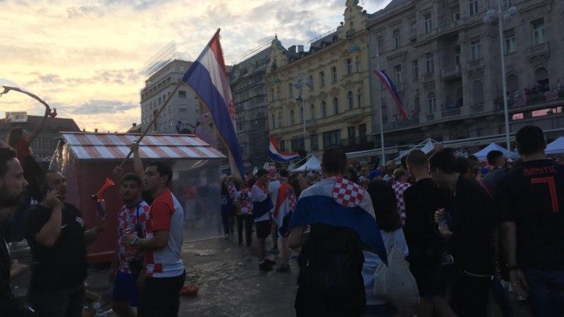 """ÕL VIDEO JA FOTOD   Horvaatia kaotusest hoolimata on Zagrebis pidu: """"Oleme südames võitjad!"""""""