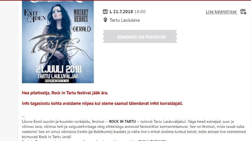 Marko Atso: Rock in Tartu tehnikat homme laululavale ei paigaldata