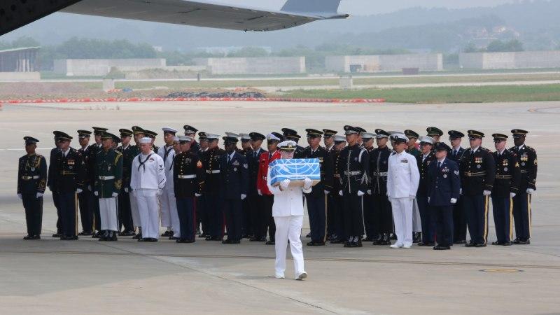 Põhja-Korea tagastas USA-le Korea sõjas hukkunud ameeriklaste säilmed