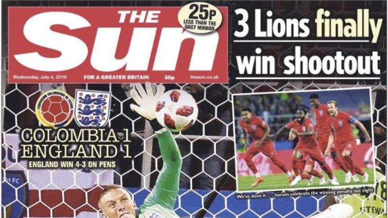 Inglismaa koondis vallutas ajalehtede esikaaned: ajaloopoisid murdsid penaltiseeria needuse