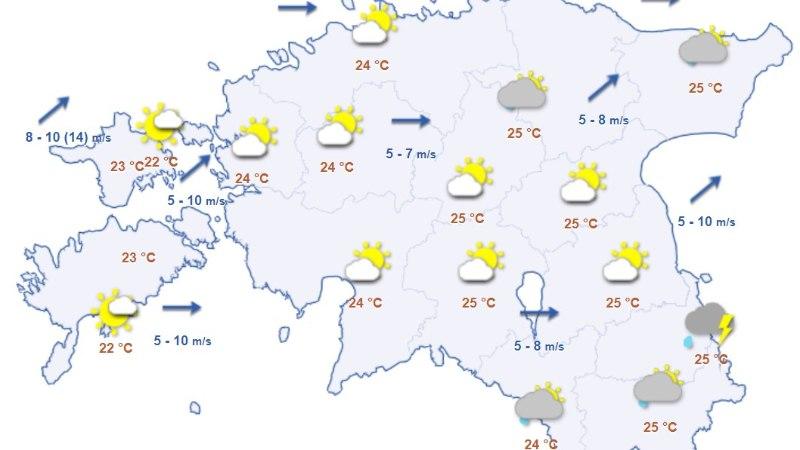 Jahedasõbrad, rõõmustage: nädalavahetusel langeb temperatuur kümme kraadi