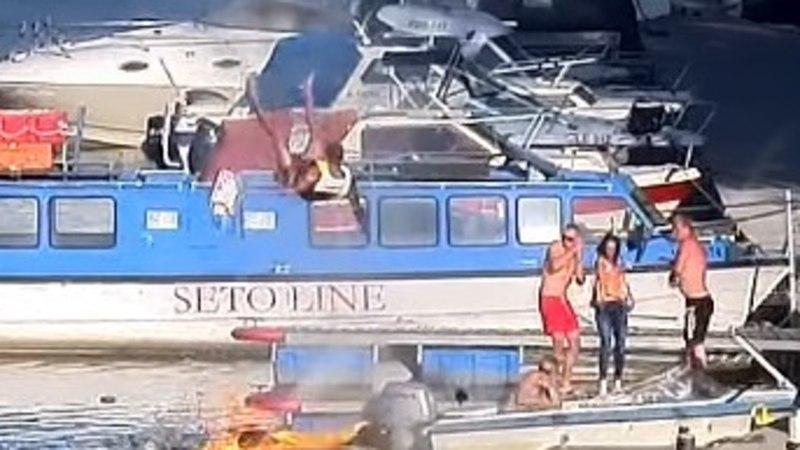ŠOKEERIV VIDEO | Tartus Karlova sadamas plahvatas jett, sõitja paiskus kõrgele õhku