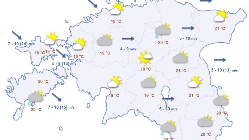 Ilmaprognoos: alanud nädalal tasub vihmavari käeulatuses hoida