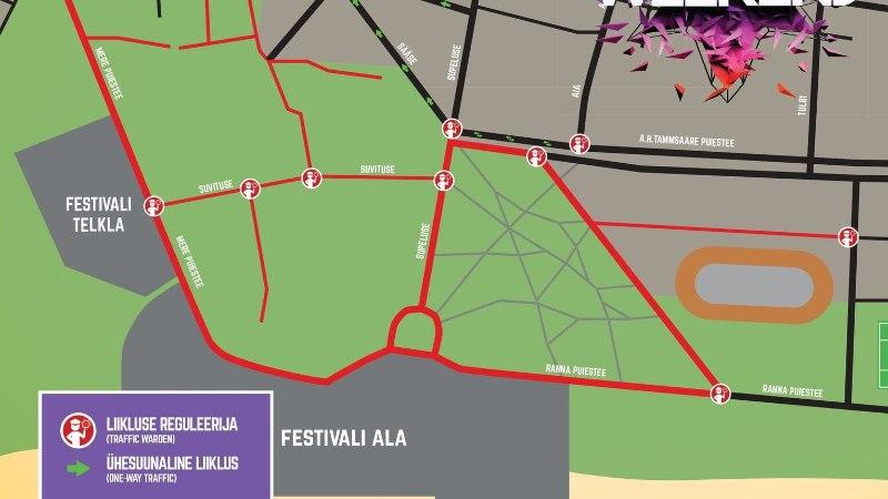 Weekend festival toob kaasa liikluskorralduse muudatused