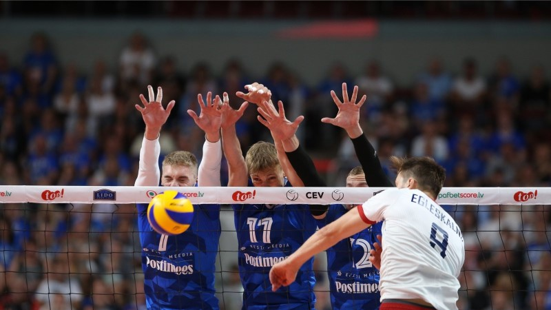 GALERII | EI AITA KA AVO! Eesti võrkpallikoondis seljatas valiksarja avamängus Läti