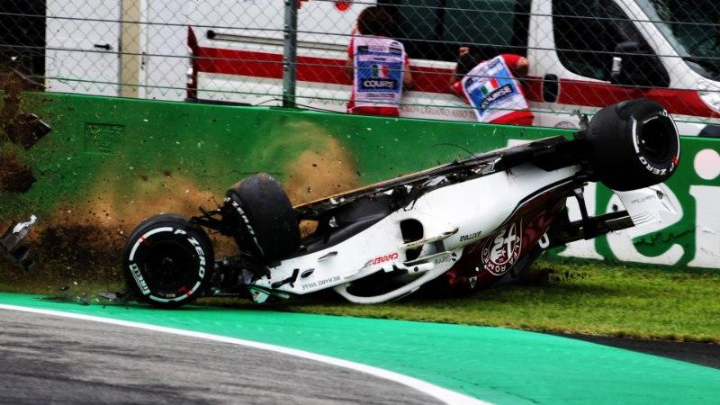 VIDEO | Itaalia GP vabatreeningul oli kiireim Vettel, Ericsson tegi jõhkra avarii