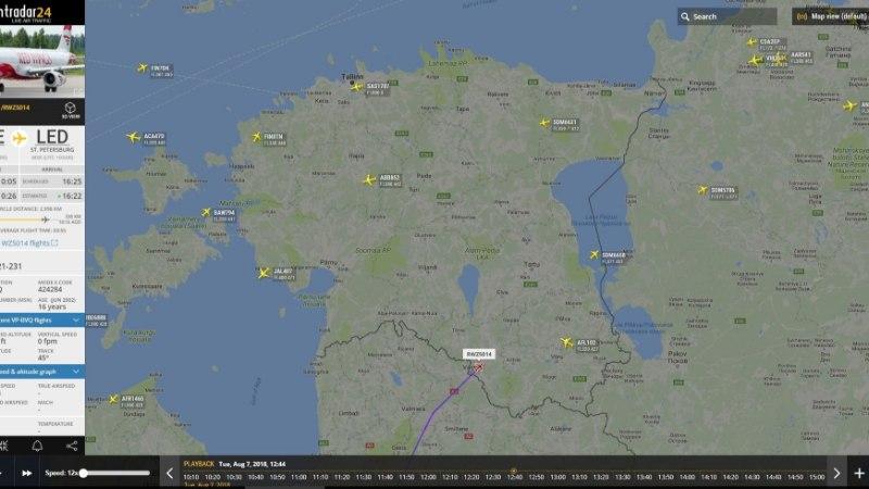 Hispaania hävitaja lasi raketi välja ajal, mil Otepää ligidal oli kaks reisilennukit