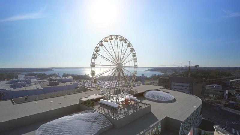 На крышу строящегося торгового центра T1 Mall of Tallinn вскоре установят колесо обозрения