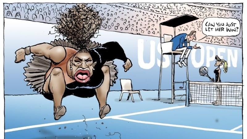 Karikaturist Andres Varustin ei arva, et Serena Williamsist tehtud pilapilt rassistlik on