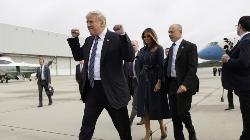 PILTUUDIS | Trump väljendas 9/11 mälestusüritusele saabudes äärmuslikku ükskõiksust
