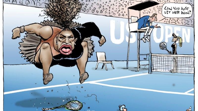 Автор карикатуры на Серену Уильямс обвинен в расизме