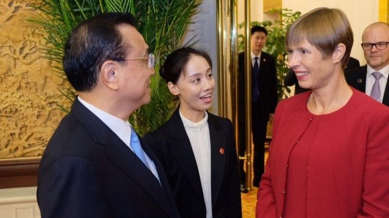 FOTOD | President Kaljulaid arutas Hiina peaministriga majanduskoostööd
