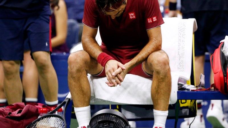 Roger Federer sai USA lahtistel šokk-kaotuse