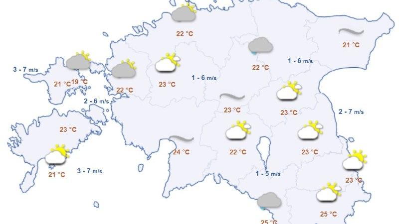 SUVI TULEB TAGASI: lähipäevil on taas 25 kraadi sooja