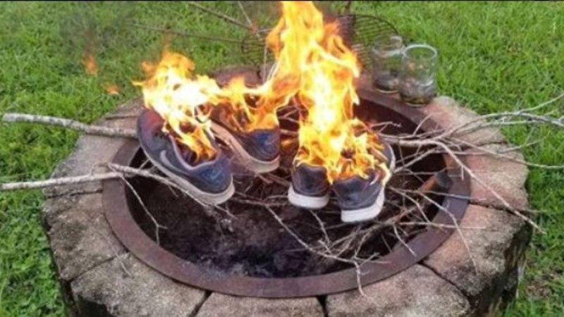 Põlevad Nike'i tossud lõid USA rahva kahte leeri