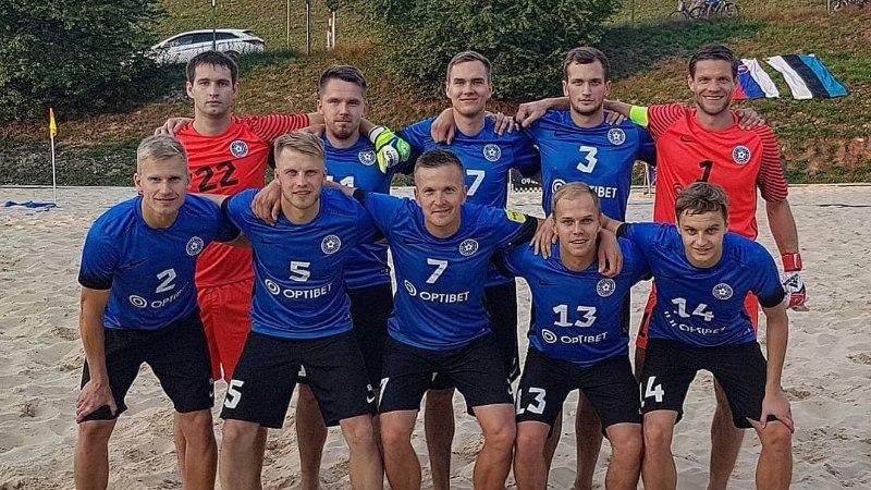 Eesti rannajalgpallurid tagusid Slovakkia võrku 14 palli