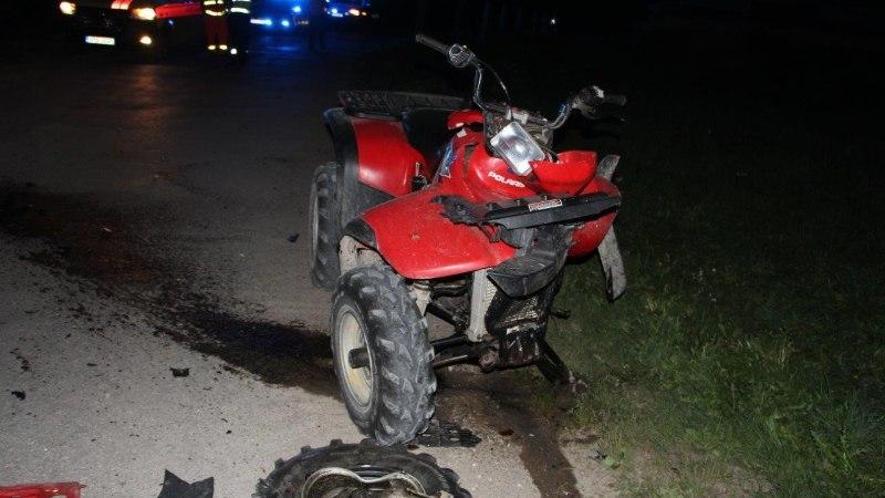 FOTOD | Kihutava ATV juht hukkus kokkupõrkes veokiga