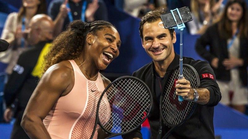 Serena Williams ja Roger Federer mängisid esimest korda teineteise vastu