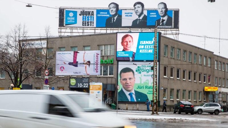 GRAAFIK   SUUR RAHAKÜLV: milliseid Eesti erakondi eelistavad lahked annetajad