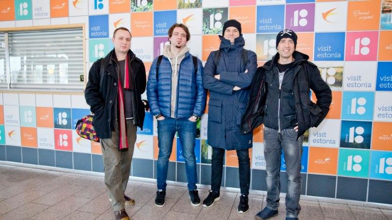 """ФОТО: культовая российская группа """"Ногу свело"""" приехала в Таллинн"""