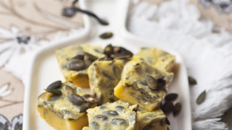 Kõrvitsa ja valge šokolaadi koorekaramell ehk fudge