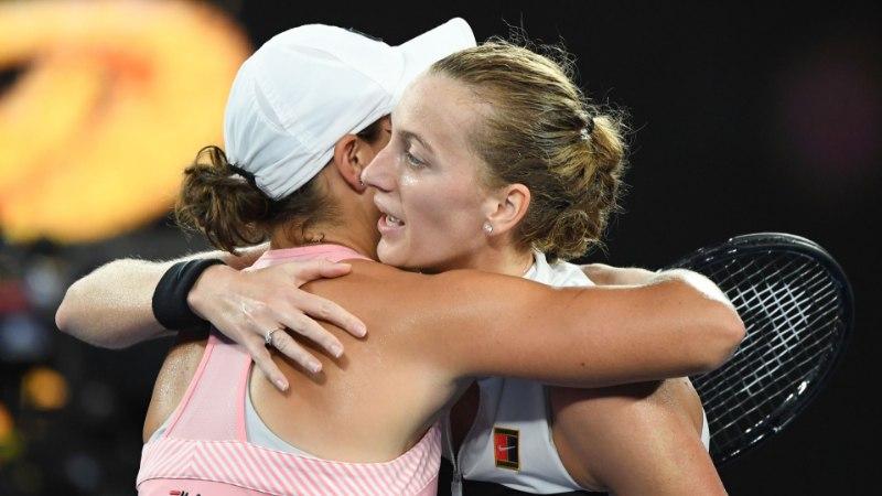 Petra Kvitova lõpetas korraldajate lootuse Ashleigh Barty teekonna