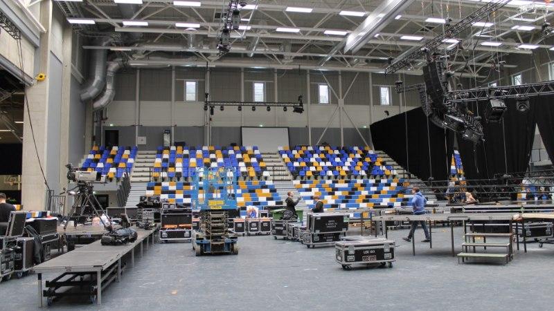 """FOTOD   """"Eesti laulu"""" lava ehitus on täies hoos!"""