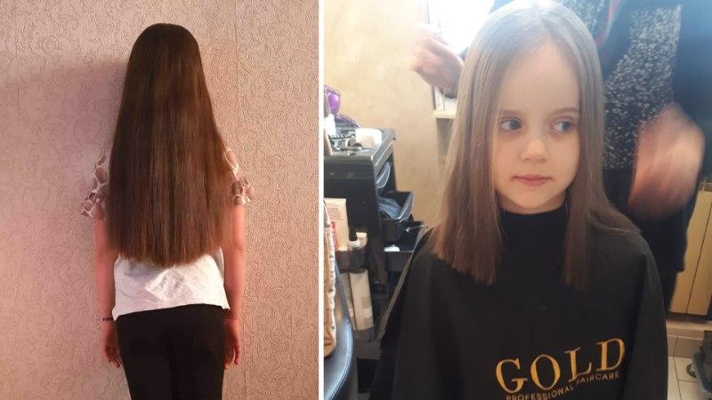 Vähist paranenud kuueaastane Liseta soovib annetada oma juuksed