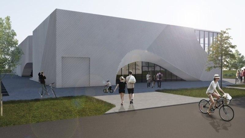 Фото будущего центра виртуальной реальности на Сааремаа: строительство уже началось