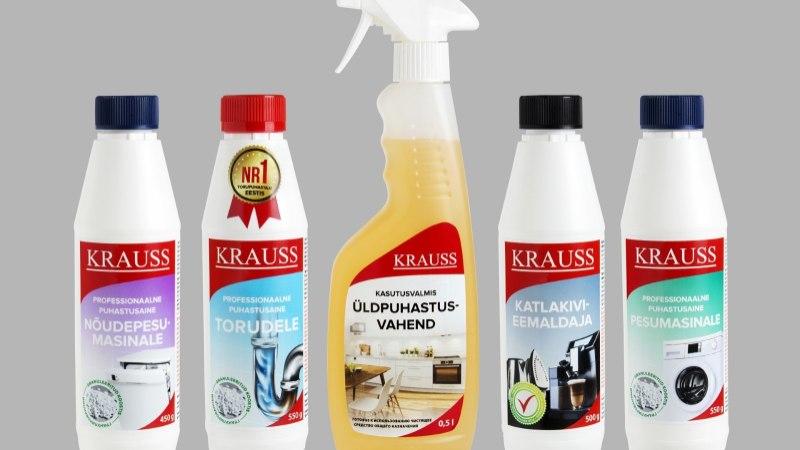 Kraussi tõhusad puhastusvahendid on võitnud südameid – nüüd on need saadaval ka Solarises!