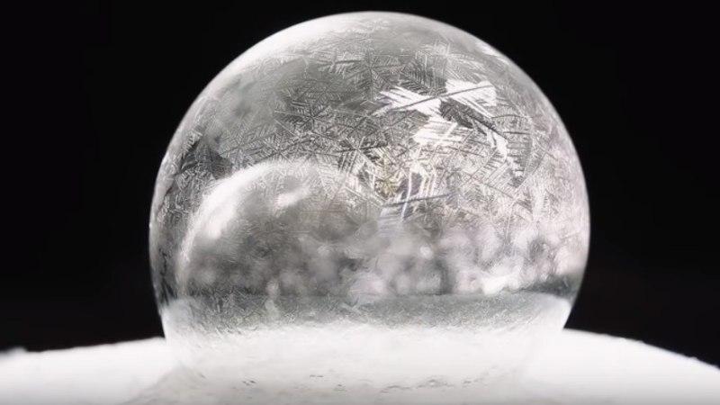 TEE JÄRGI: vaata, millised näevad välja külmunud seebimullid