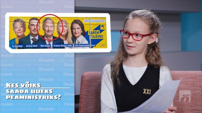 ÕL VIDEO | Modell, prillipapa ja poemüüja ehk Mida arvavad lapsed valimisreklaamidest?