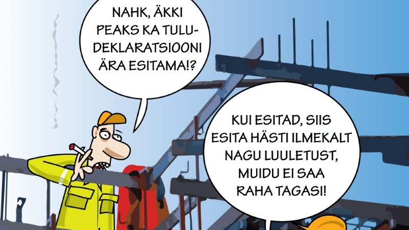 Karikatuur   Tulu deklareerimine