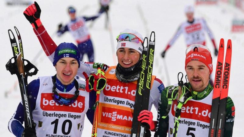 TŠEMPION! Jarl Magnus Riiber kindlustas juba MK-sarja üldvõidu ja tegi Norra kahevõistluse ajalugu