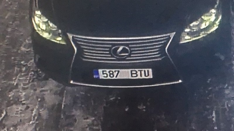 ФОТО: полиция ищет угнанный в Таллинне Lexus за 65 000 евро