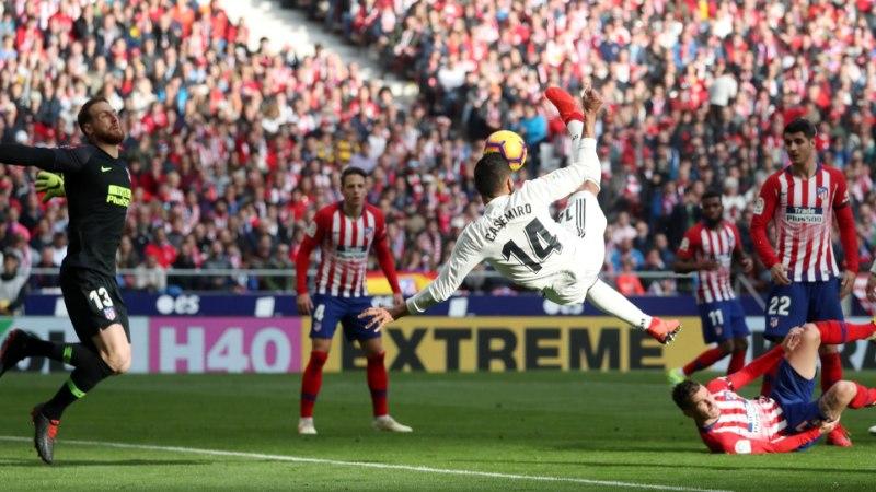 VIDEO   Casemiro vajutas Atleticole poolkäärid, Bale jõudis uhke tähiseni