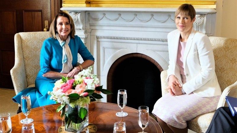 FOTOD   President Kaljulaid kohtus Washingtonis spiiker Nancy Pelosiga