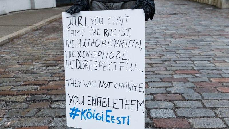 ÕL VIDEO JA FOTOD | Protestijad Toompeal: ei ole vaja olla kibestunud kaotaja, on vaja mõelda parematele lahendustele
