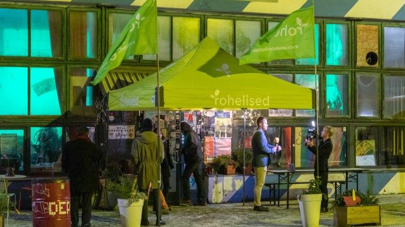 ÕL VIDEO JA GALERII | Rohelised pidasid valimispidu Telliskivis Sveta baaris