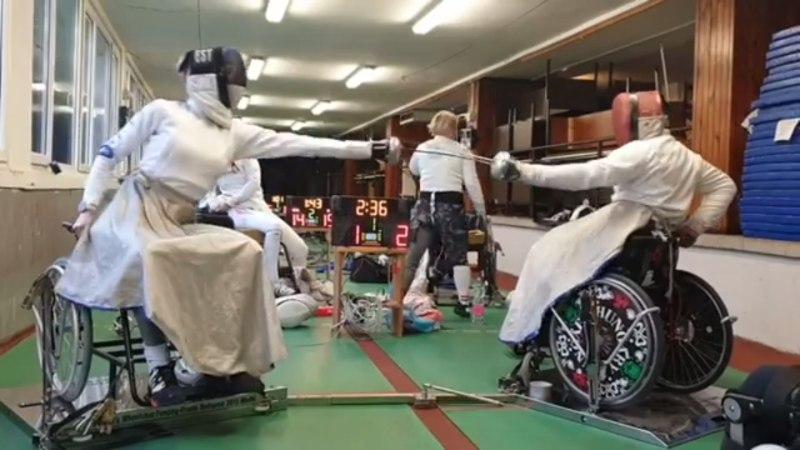 VIDEO | Katrina Lehis proovis ratastoolivehklemist: oli väga huvitav ja raske