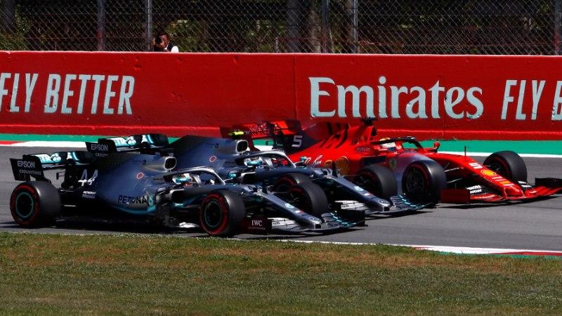 EI MIDAGI UUT! Mercedeste valitsusaeg jätkub, sel korral jäi peale Hamilton, Vettel langes poodiumilt välja
