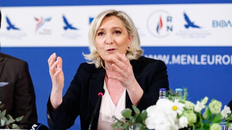 Le Pen tõrjus ebamugavaid küsimusi: miks kõik pärivad ainult Venemaa kohta?