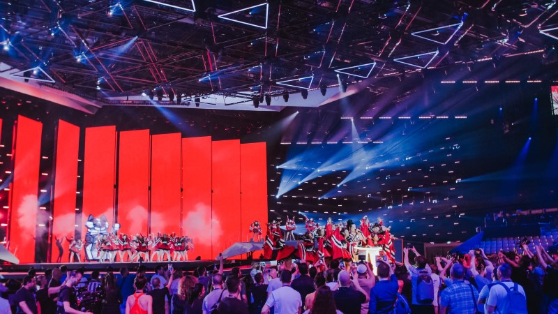 Eurovisioni pressikeskuses külvasid hirmu kaks sissetungijat