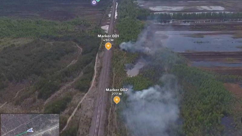FOTO   Konju külas põleb turbaväli
